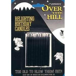 Over The Hill Relighting Birthday Candles